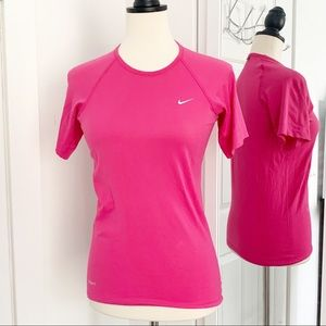 Nike Small Pink Short Sleeve Workout Top